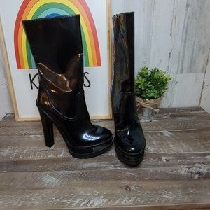 Brian Atwood Troia boots Iridescent Black Sz 5.5